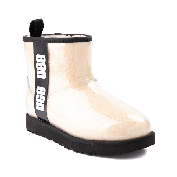 alternate view Womens UGG® Classic Clear Mini II Boot - Natural / BlackALT5
