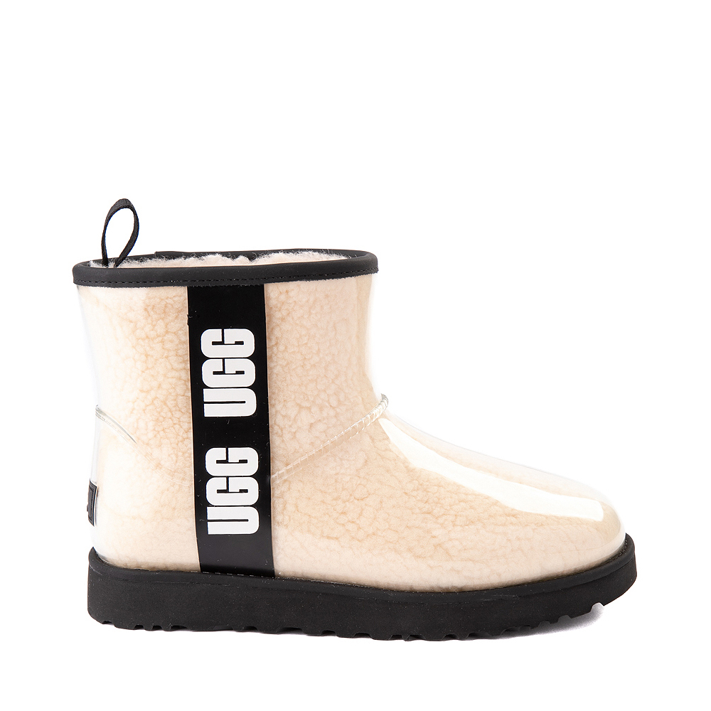 Womens UGG® Classic Clear Mini II Boot - Natural / Black