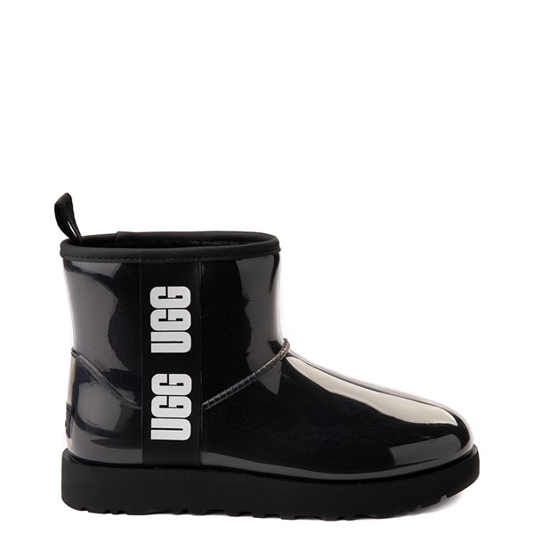 Main view of Womens UGG® Classic Clear Mini II Boot - Black