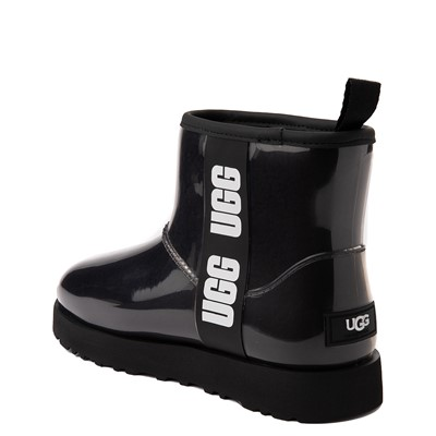 Alternate view of Womens UGG® Classic Clear Mini II Boot - Black