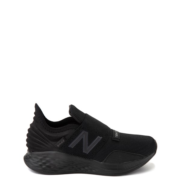Main view of New Balance Fresh Foam Roav Slip On Athletic Shoe - Little Kid - Black Monochrome