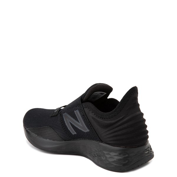 alternate view New Balance Fresh Foam Roav Slip On Athletic Shoe - Little Kid - Black MonochromeALT1