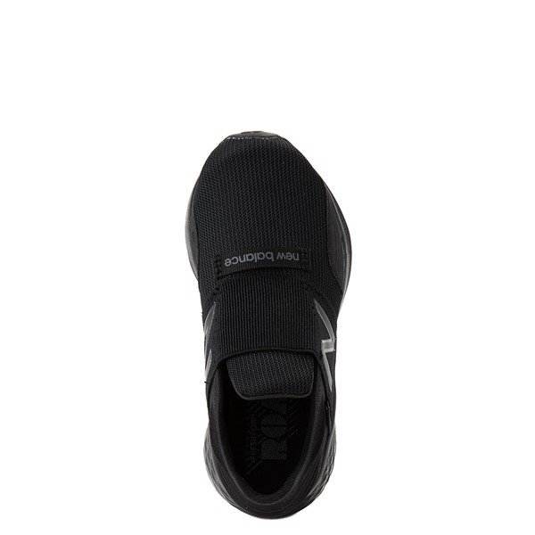 alternate view New Balance Fresh Foam Roav Slip On Athletic Shoe - Little Kid - Black MonochromeALT2