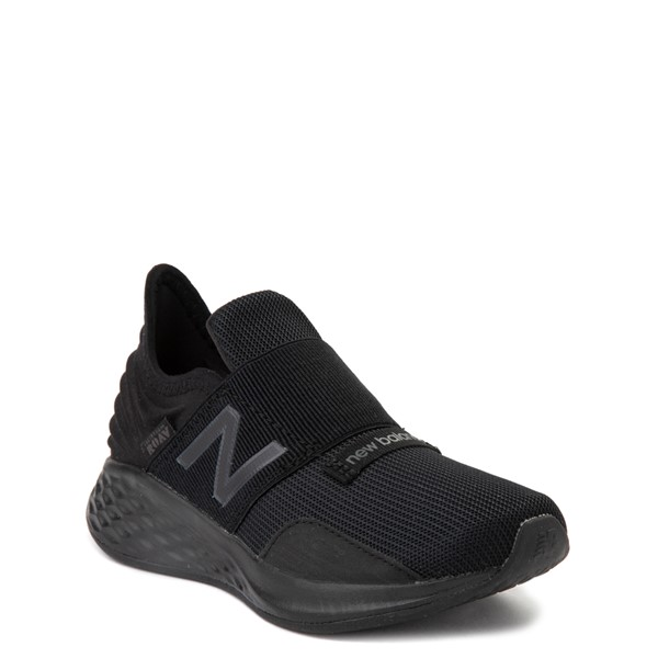 alternate view New Balance Fresh Foam Roav Slip On Athletic Shoe - Little Kid - Black MonochromeALT5