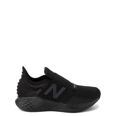 Main view of New Balance Fresh Foam Roav Slip On Athletic Shoe - Little Kid - Black Monochrome