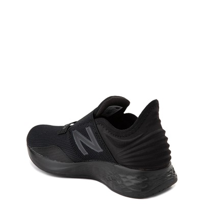 Alternate view of New Balance Fresh Foam Roav Slip On Athletic Shoe - Little Kid - Black Monochrome