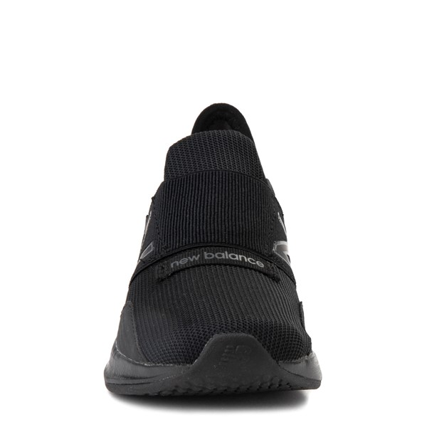 alternate view New Balance Fresh Foam Roav Slip On Athletic Shoe - Big Kid - Black MonochromeALT4