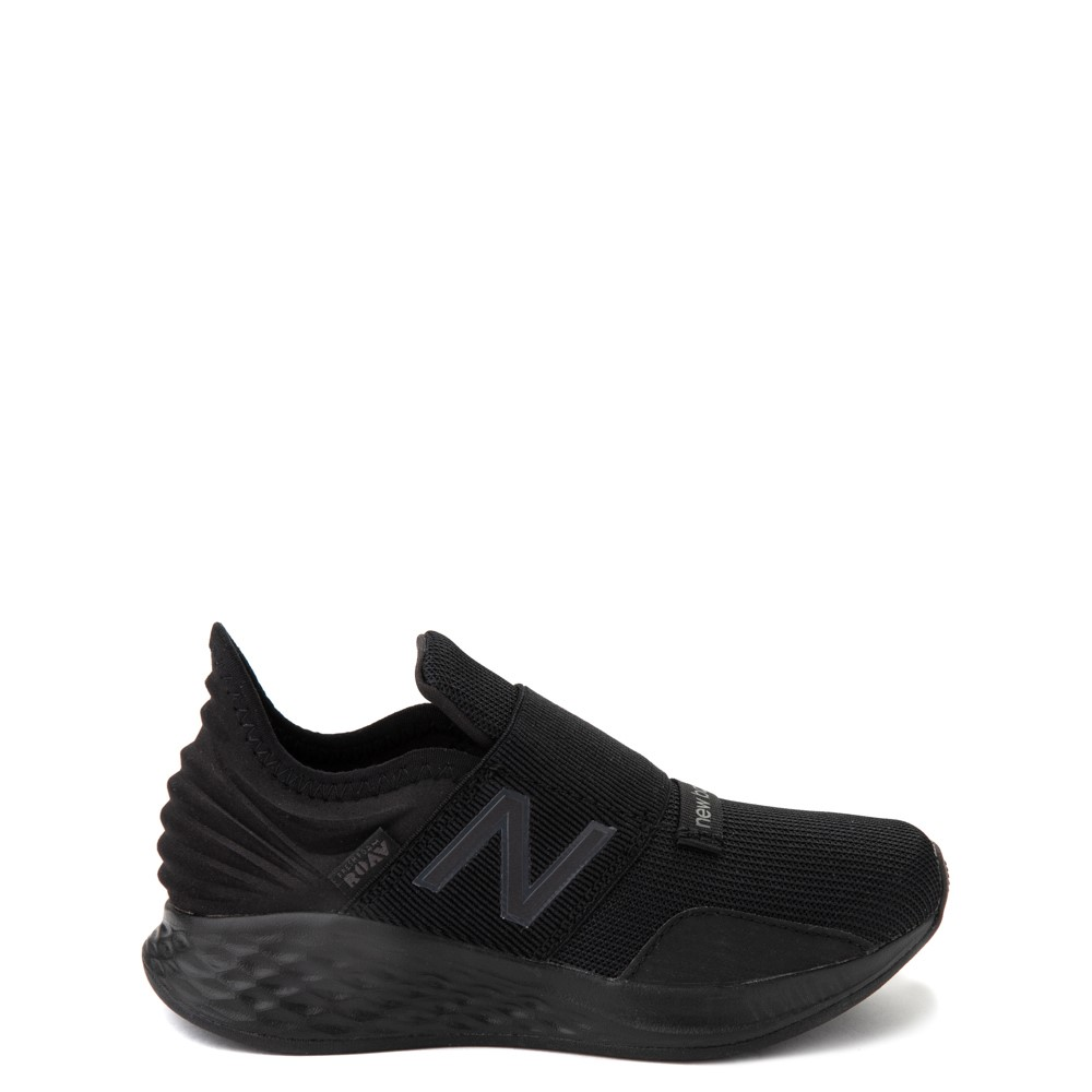 New Balance Fresh Foam Roav Slip On Athletic Shoe - Big Kid - Black Monochrome