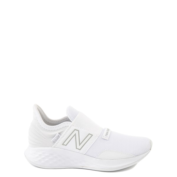 Main view of New Balance Fresh Foam Roav Slip On Athletic Shoe - Little Kid - White