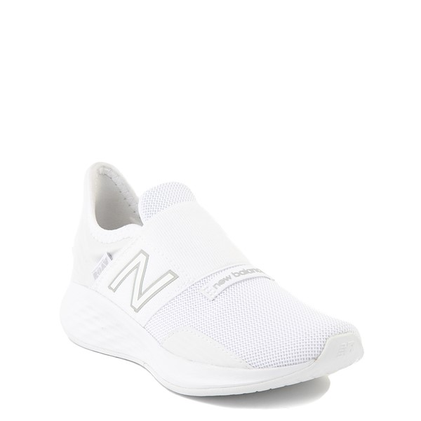 alternate view New Balance Fresh Foam Roav Slip On Athletic Shoe - Little Kid - WhiteALT5