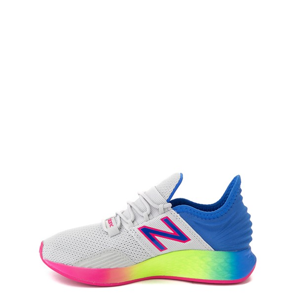 alternate view New Balance Fresh Foam Roav Athletic Shoe - Little Kid - Gray / RainbowALT1