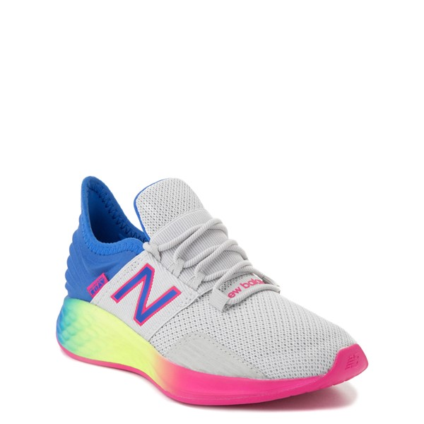 alternate view New Balance Fresh Foam Roav Athletic Shoe - Little Kid - Gray / RainbowALT5