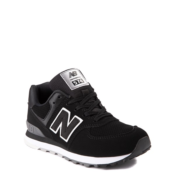 alternate view New Balance 574 Athletic Shoe - Little Kid - BlackALT5
