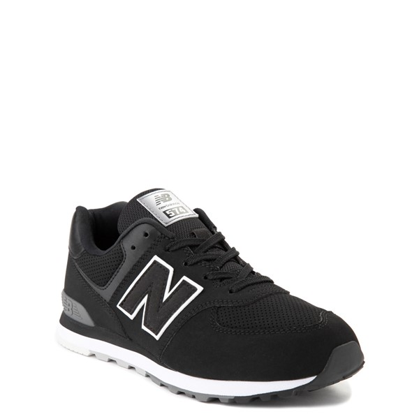 alternate view New Balance 574 Athletic Shoe - Big Kid - BlackALT5