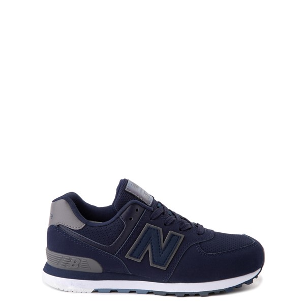Main view of New Balance 574 Athletic Shoe - Big Kid - Navy / Gray