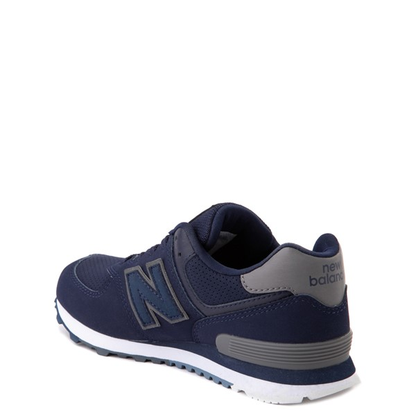 alternate view New Balance 574 Athletic Shoe - Big Kid - Navy / GrayALT1