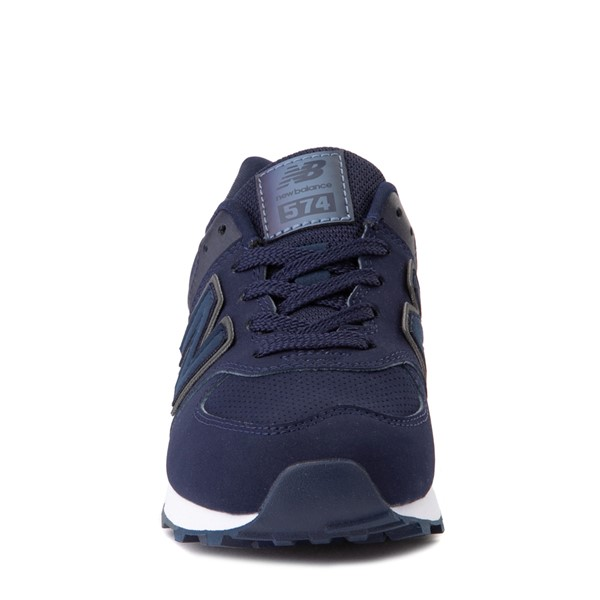 alternate view New Balance 574 Athletic Shoe - Big Kid - Navy / GrayALT4