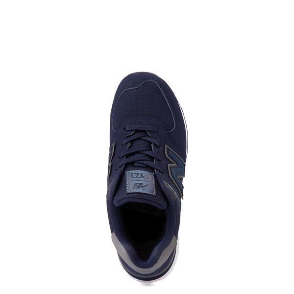 alternate view New Balance 574 Athletic Shoe - Big Kid - Navy / GrayALT4B