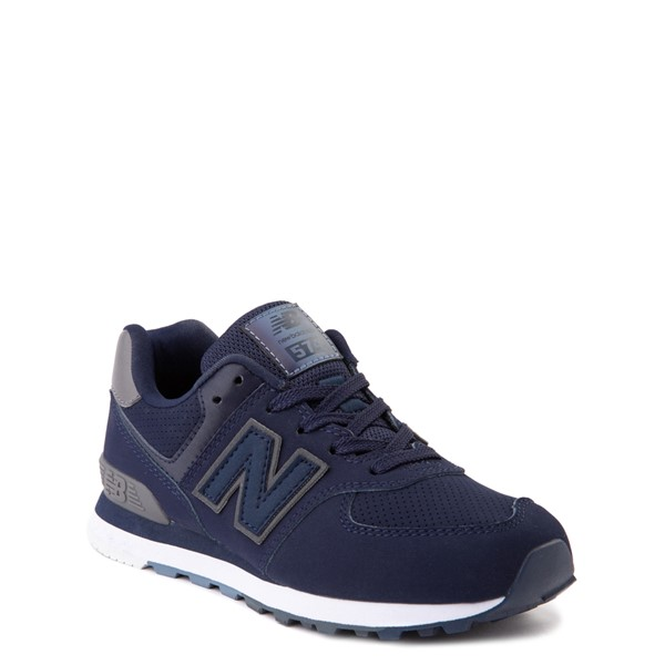alternate view New Balance 574 Athletic Shoe - Big Kid - Navy / GrayALT5
