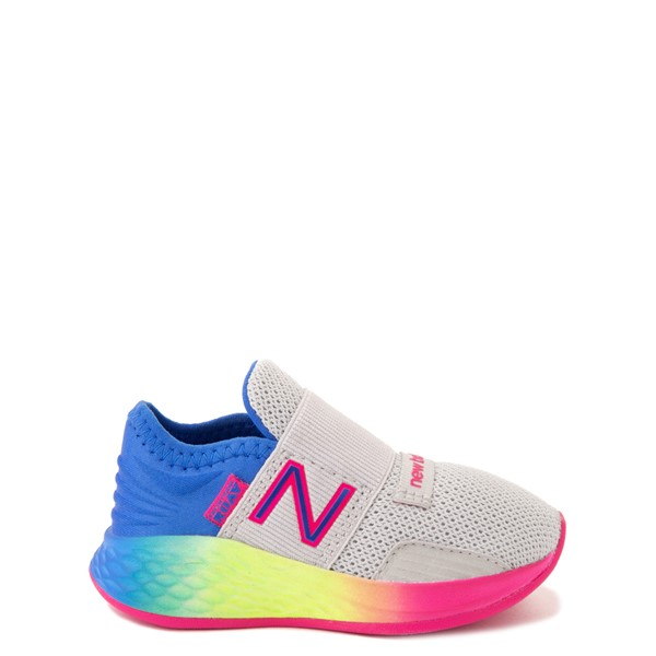 Main view of New Balance Fresh Foam Roav Slip On Athletic Shoe - Baby / Toddler - Gray / Rainbow