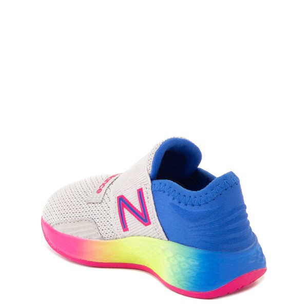 alternate view New Balance Fresh Foam Roav Slip On Athletic Shoe - Baby / Toddler - Gray / RainbowALT1