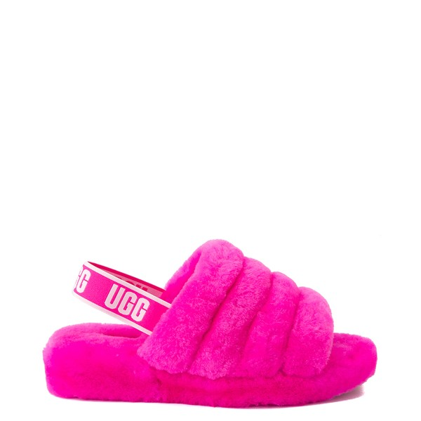 Main view of Womens UGG® Fluff Yeah Slide Sandal - Rock Rose