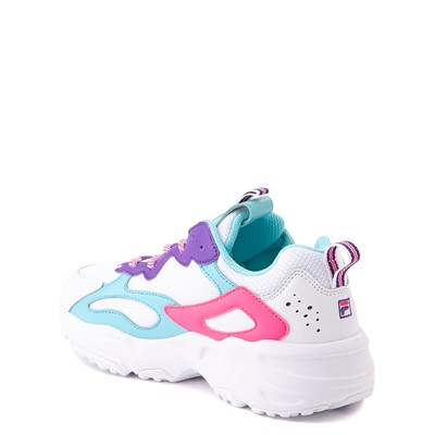 Alternate view of Fila Ray Tracer Athletic Shoe - Little Kid - White / Pink / Turquoise