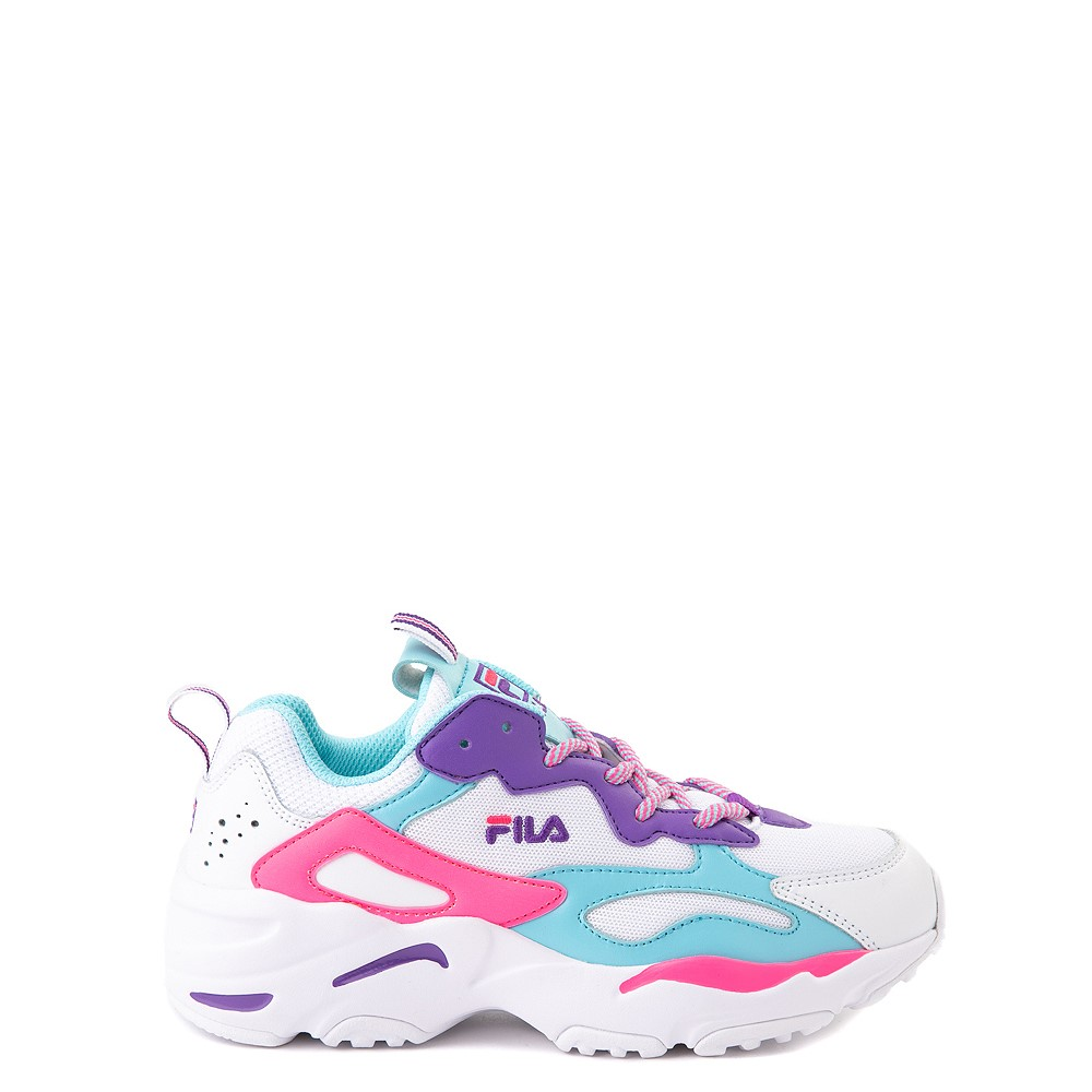 Fila Ray Tracer Athletic Shoe - Little Kid - White / Pink / Turquoise