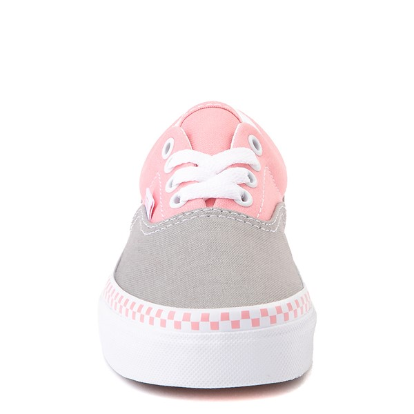 alternate view Vans Era Checkerboard Skate Shoe - Little Kid - Drizzle Gray / PinkALT4