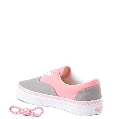 Alternate view of Vans Era Checkerboard Skate Shoe - Big Kid - Drizzle Gray / Pink