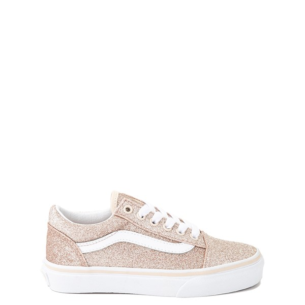 Main view of Vans Old Skool Glitter Skate Shoe - Little Kid - Brazilian Sand