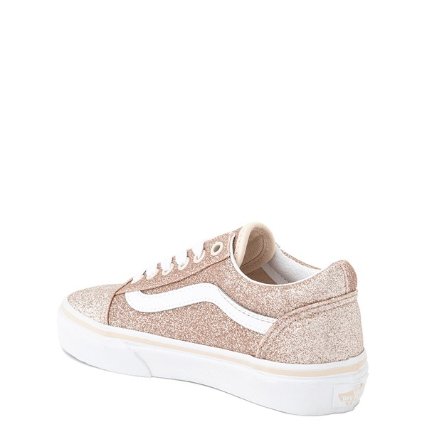alternate view Vans Old Skool Glitter Skate Shoe - Little Kid - Brazilian SandALT1