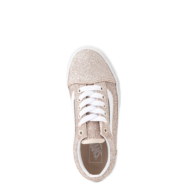 alternate view Vans Old Skool Glitter Skate Shoe - Little Kid - Brazilian SandALT2