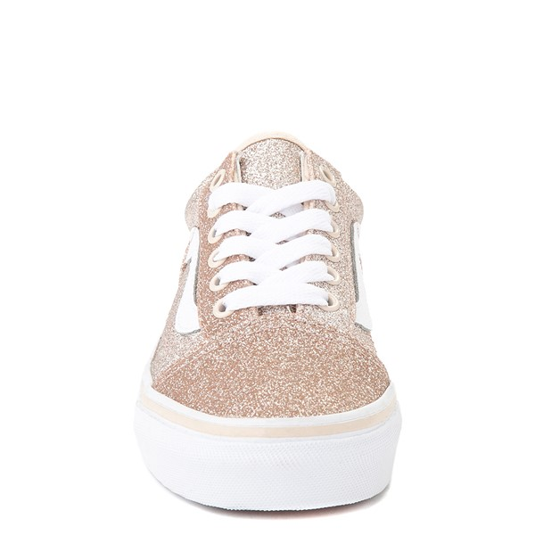 alternate view Vans Old Skool Glitter Skate Shoe - Little Kid - Brazilian SandALT4