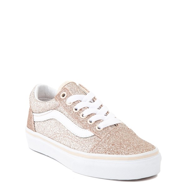 alternate view Vans Old Skool Glitter Skate Shoe - Little Kid - Brazilian SandALT5