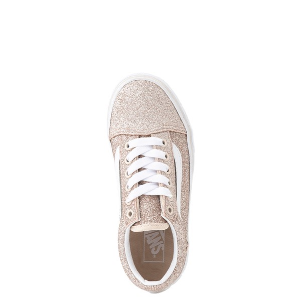 alternate view Vans Old Skool Glitter Skate Shoe - Big Kid - Brazilian SandALT4B