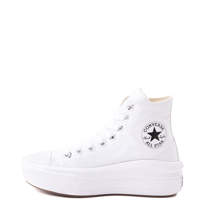 Alternate view of Womens Converse Chuck Taylor All Star Hi Move Platform Sneaker - White