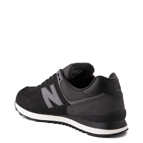 alternate view Mens New Balance 574 Athletic Shoe - Black / GrayALT1