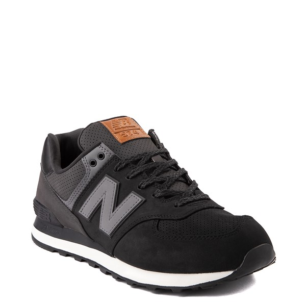 alternate view Mens New Balance 574 Athletic Shoe - Black / GrayALT5