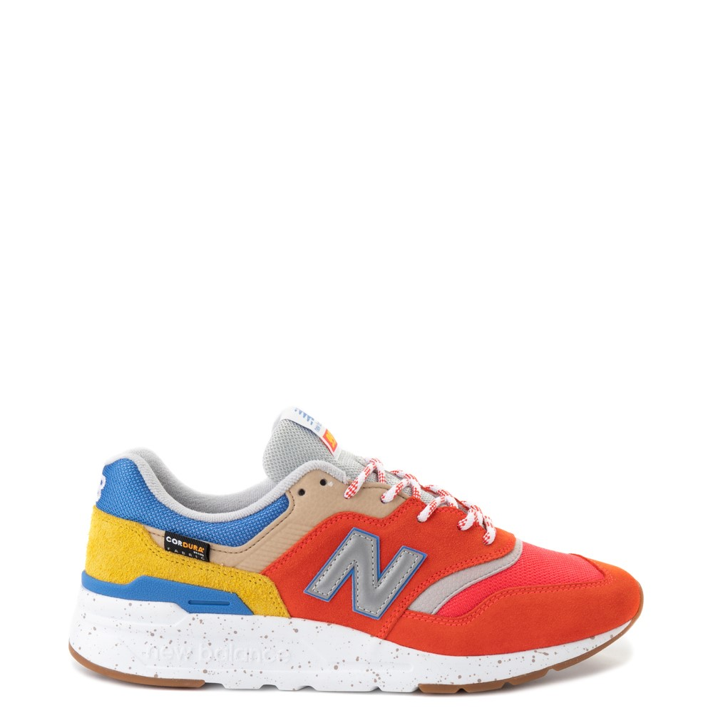 Mens New Balance 997H Athletic Shoe - Red / Blue / Yellow