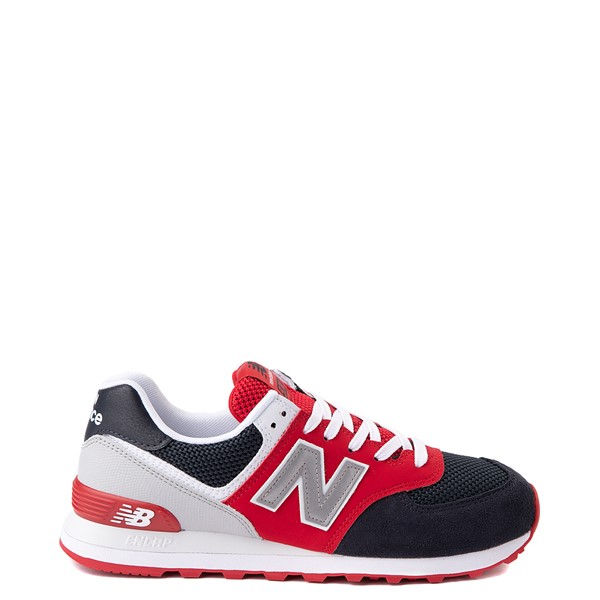 Main view of Mens New Balance 574 Athletic Shoe - Eclipse Blue / Red