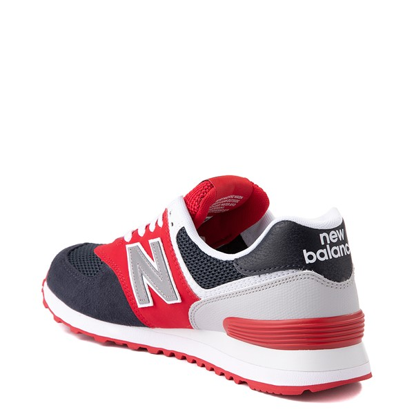 alternate view Mens New Balance 574 Athletic Shoe - Eclipse Blue / RedALT1B