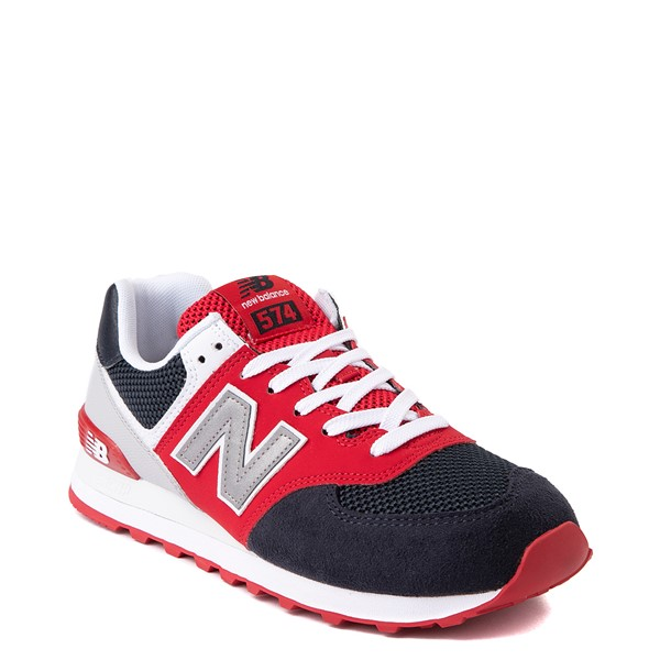 alternate view Mens New Balance 574 Athletic Shoe - Eclipse Blue / RedALT5
