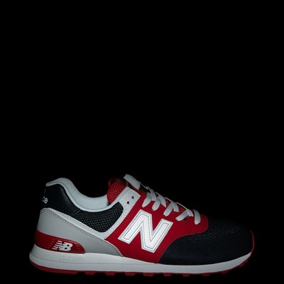 Alternate view of Mens New Balance 574 Athletic Shoe - Eclipse Blue / Red