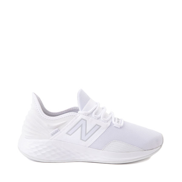 Main view of Mens New Balance Fresh Foam Roav Athletic Shoe - White / Gray