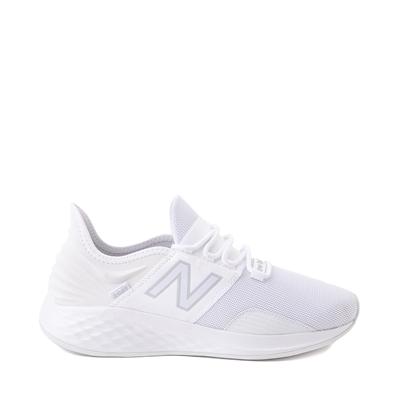 Main view of Mens New Balance Fresh Foam Roav Athletic Shoe - White / Gray