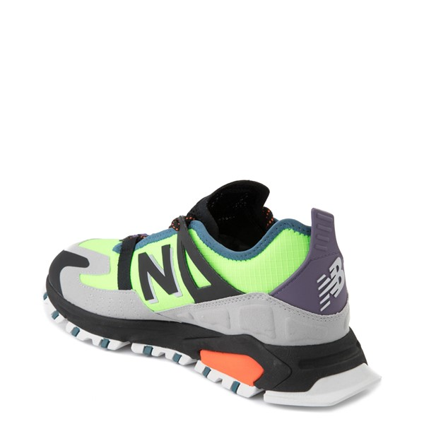 alternate view Mens New Balance X-Racer Athletic Shoe - Lime / Black / GrayALT1