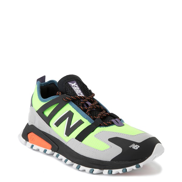 alternate view Mens New Balance X-Racer Athletic Shoe - Lime / Black / GrayALT5