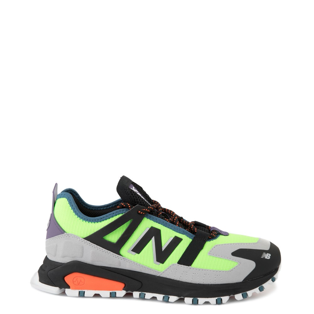 Mens New Balance X-Racer Athletic Shoe - Lime / Black / Gray
