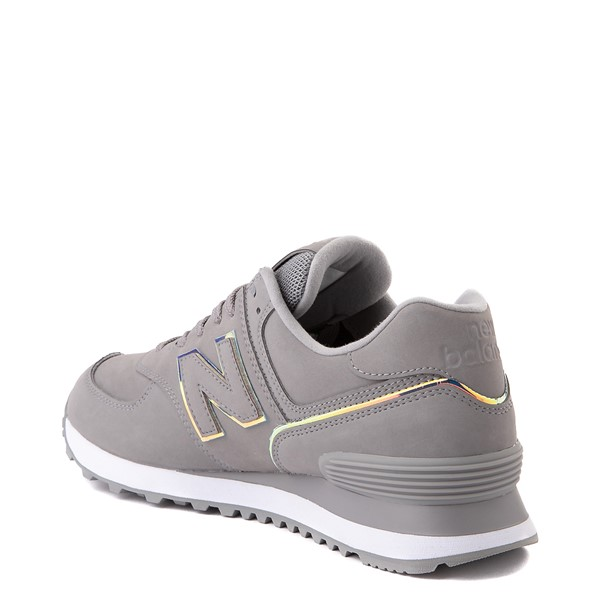 alternate view Womens New Balance 574 Athletic Shoe - Gray / IridescentALT1
